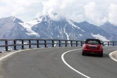 Strada alpina, alpi orientali Fotografie Stock