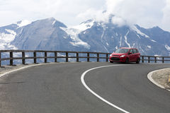 Strada alpina, alpi orientali Fotografia Stock