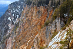 Strada alpina di Villach, Carinthia, Austria Fotografia Stock