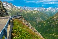 Strada alpina scenica Immagini Stock