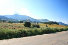 Strada & paesaggio del paese Fotografie Stock