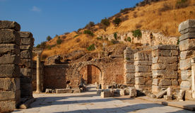 Strada antica, Ephesus fotografie stock