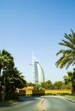 strada araba degli emirati del burj di Al Fotografia Stock Libera da Diritti