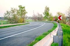Strada asfaltata Curvy Immagine Stock Libera da Diritti
