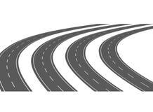 Strada asfaltata della curva 05 Fotografia Stock