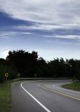 Strada asfaltata in foresta Fotografie Stock