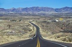 Strada asfaltata nel Nevada Fotografia Stock Libera da Diritti