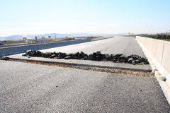 Strada asfaltata nociva Immagini Stock Libere da Diritti