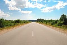 Strada asfaltata rurale Fotografia Stock