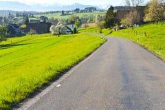 Strada asfaltata in Svizzera Fotografie Stock