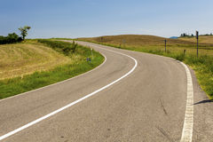 Strada asfaltata in Toscana Italia Immagine Stock