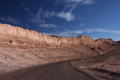 Strada a Atacama Immagine Stock