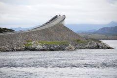 Strada atlantica, Norvegia Immagine Stock