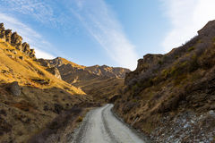 Strada attraverso i canyon dei capitani Immagini Stock