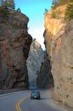 Strada attraverso il canyon Immagini Stock