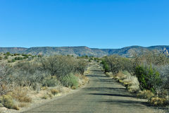 Strada attraverso il deserto dell'Arizona fotografia stock libera da diritti