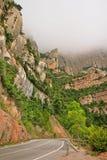 Strada attraverso il parco di Montserrat National Fotografia Stock Libera da Diritti
