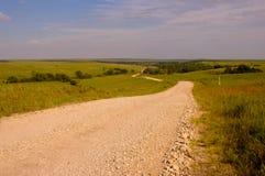 Strada attraverso la campagna Immagini Stock