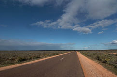 Strada australiana di entroterra del bitume Immagine Stock