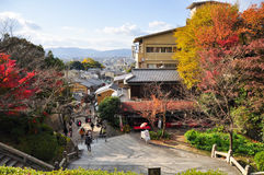 Strada in autunno, Osaka Japan (3) fotografie stock
