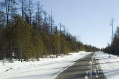 Strada a Baikal Immagine Stock