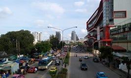 Strada Bangkok, Tailandia di Kamphaeng Phet Fotografia Stock Libera da Diritti
