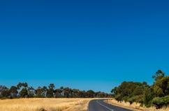 Strada campestre australiana Immagine Stock