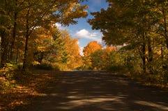 Strada campestre in autunno fotografia stock