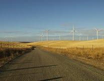 Strada campestre dell'azienda agricola e di vento Fotografia Stock