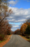 Strada campestre di autunno Fotografia Stock