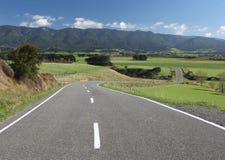 Strada campestre di bobina, Nuova Zelanda Fotografia Stock Libera da Diritti