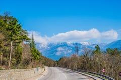 Strada campestre a Jalta della Crimea Ay Pétri Fotografia Stock Libera da Diritti