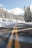 Strada campestre nell'inverno Fotografia Stock