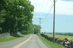 Strada campestre - Ridge Appalachia - Boyce blu, la Virginia fotografia stock