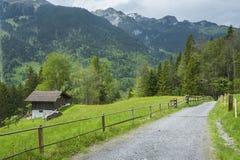 Strada campestre in svizzero fotografie stock