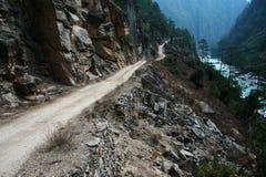Strada in canyon Fotografie Stock Libere da Diritti