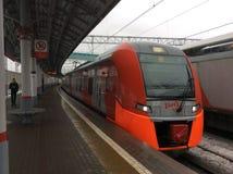 Strada centrale del treno del cerchio di Mosca Fotografie Stock Libere da Diritti