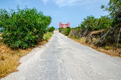 Strada che conduce alla torre del ` s della st Agatha a Malta Immagini Stock Libere da Diritti
