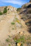 Strada chiusa del deserto Fotografia Stock Libera da Diritti