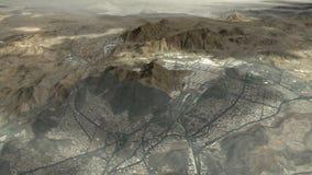 Strada a città santa di Makkah e dei luoghi santi illustrazione vettoriale