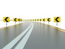Strada con i segni illustrazione di stock