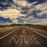Strada con il futuro di parola Fotografia Stock