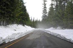 Strada con neve Immagine Stock Libera da Diritti