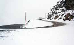 Strada con neve Fotografie Stock