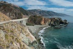 Strada costiera di California Fotografie Stock Libere da Diritti
