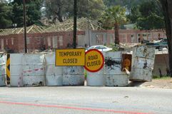 Strada in costruzione Immagine Stock Libera da Diritti