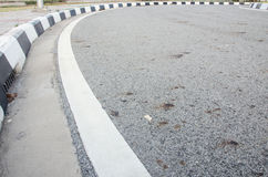 Strada curva Fotografie Stock Libere da Diritti