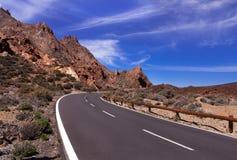 Strada curva della montagna Fotografia Stock