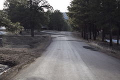 Strada curva montagna Fotografia Stock