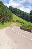 Strada curva in montagne Immagini Stock